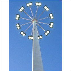High Mast Tower With LED Light