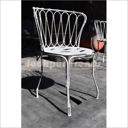 Industrial Half Round Chair