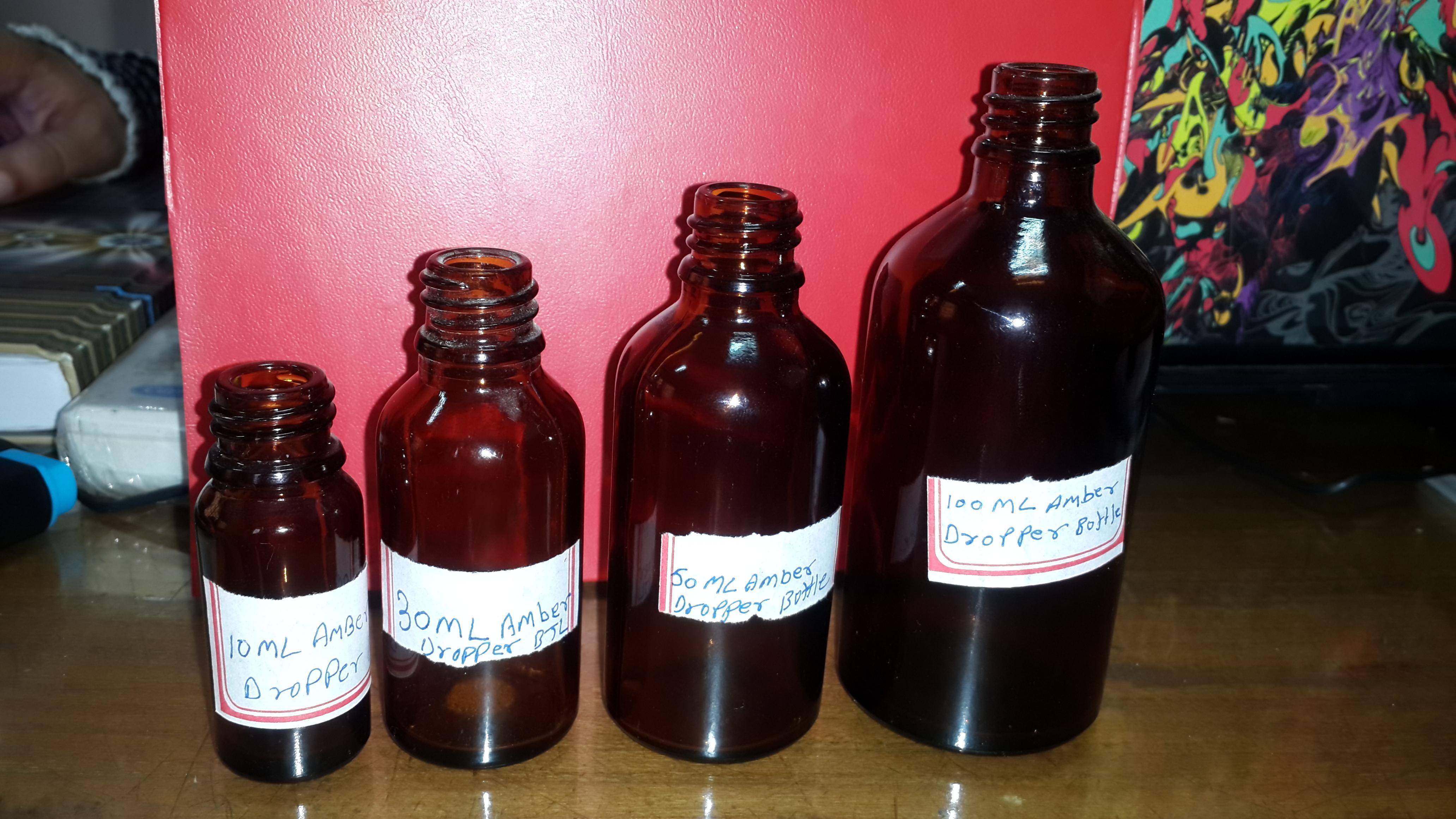 Glass Vials Bottle