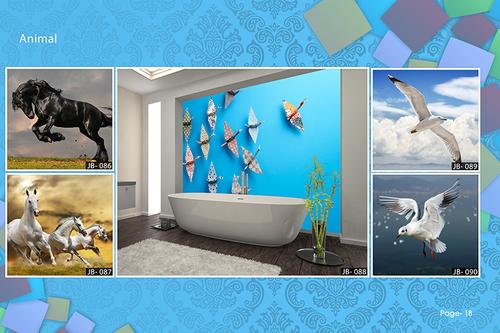 Customised Glass Wallpaper