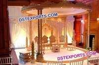 Indian Wedding Wooden Spiral Mandap