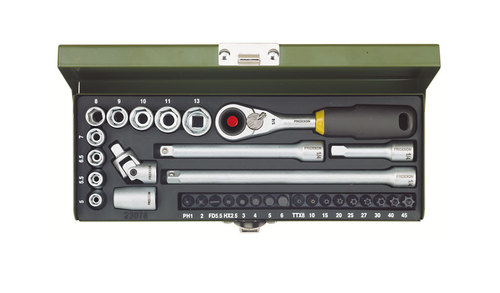 32-piece set with MICRO compact ratchet