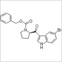 (R)-2-[(5-Bromo-1H-indol-3-yl)carbonyl]-1-pyrrolidinecarboxylic acid benzyl ester