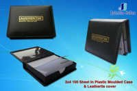Plastic Molded Case with Leather Cover Notepad