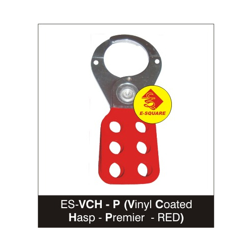 Premier RED Vinyl Coated Hasp