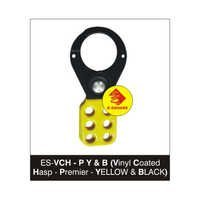 Vinyl Coated Lockout Hasp-Premier-Yellow & Black