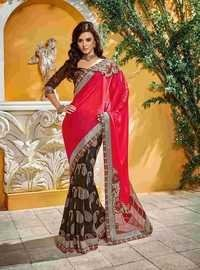 Fancy Designer Stylish Cutwork Patch With Heavy Border Saree-IB-1043-2801