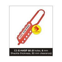 Flexible Lockout De Electric Hasp - 6 Holes, 6 mm