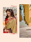 Fancy Designer Stylish Heavy Cording Lace With Fancy Patch  Saree-IB-1043-2802
