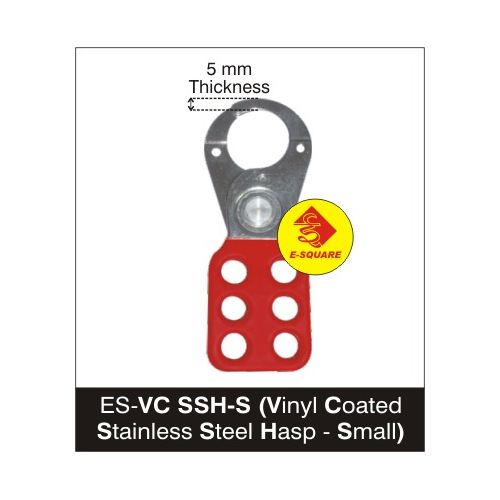 Lockout Vinyl Coated Stailness Steel Hasp - Small