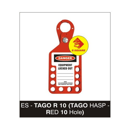 Lockout Tago Hasp - Red