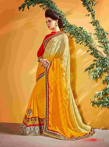 Fancy Designer Stylish  Patch Work With Heavy Border  Saree-IB-1043-2814