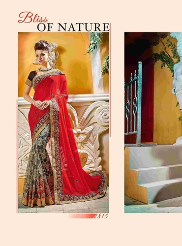 Fancy Designer Stylish Cutwork Patch With Heavy Embroidery Border  Saree-IB-1043-2815