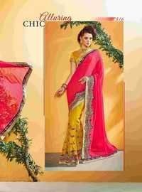 Fancy Designer Stylish Jari Embroidery With Cutwork  Saree-IB-1043-2815