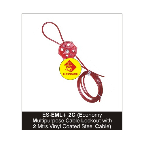 Economy Multi Purpose Cable Lockout with 2 Mtrs.