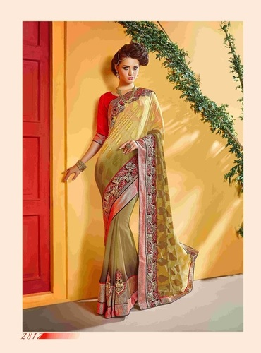 Fancy Designer Stylish Patch Work and Heavy Cording Border Saree-IB-1043-2817