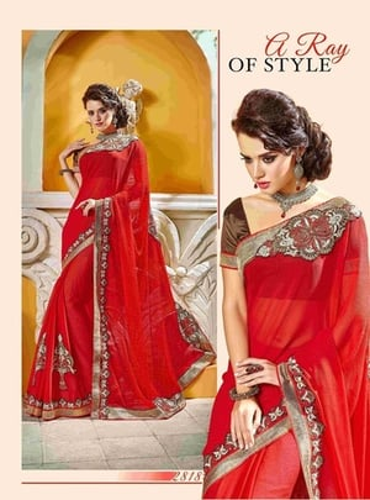 Fancy Designer Stylish Patch Work and Heavy Cutwork Border Saree-IB-1043-2818