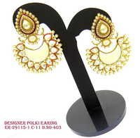 Beautiful White Pearl Polki Earrings