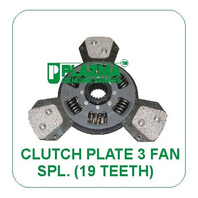Clutch PLate 3 Fan Spl. ( 19 TH.) John Deere