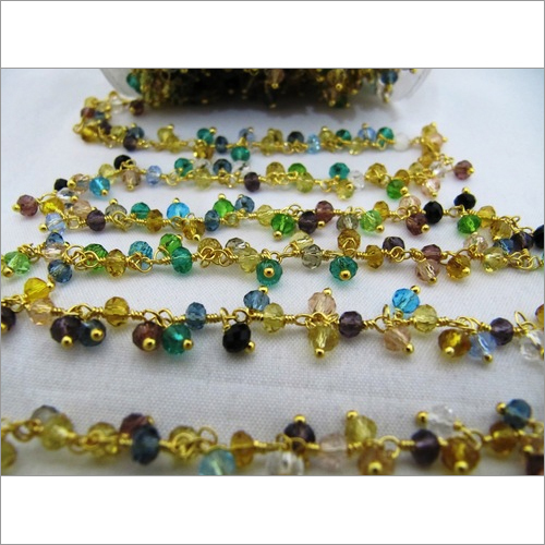 Multi color Cluster Bead Chain