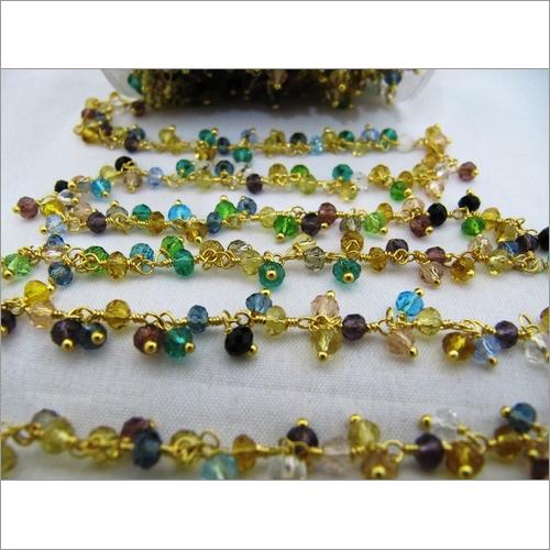 Multi color Cluster Bead Chain