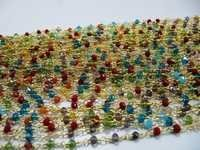 Multi Color Crystal Beaded chain