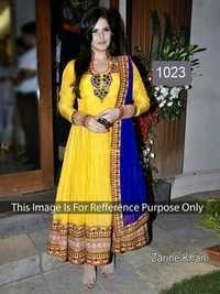 Indian Bollywood Replica Exclusive Designer Party Wear Semi stitch Anarkali Suit