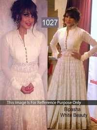 Indian Bollywood Replica Exclusive Designer  Party Wear White Anarkali Suit-IB-515-1027