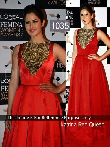 Indian Bollywood Replica  Designer Heavy Work Silk Red Anarkali Suit-IB-515-1035
