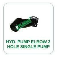 Hyd. Pump Elbow 3 Hole Single Pump Green Tractor