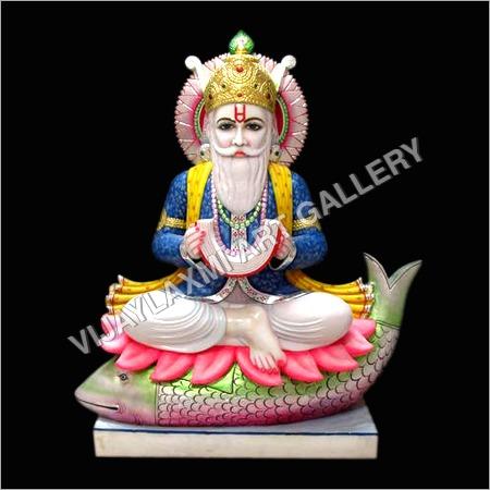 Marble Jhulelal Statue