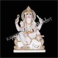 Marble Vishwakarma Statue