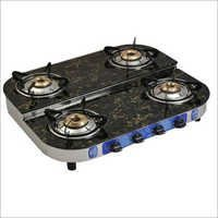 Glass Top Gas Stove 4 Burner