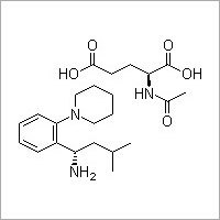 (S)-3-Methyl-1-(2-piperidinophenyl)butylamine N-acetylglutamate salt