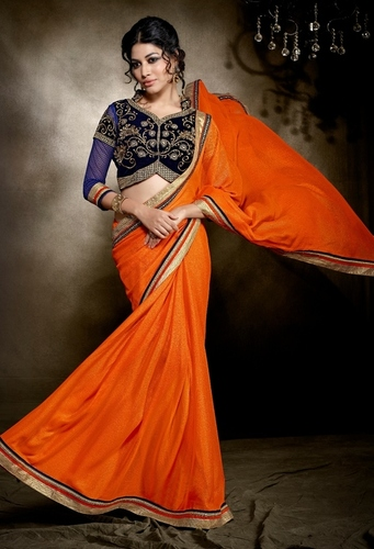 Stylish Designer Party Wear Saree With Embroidery