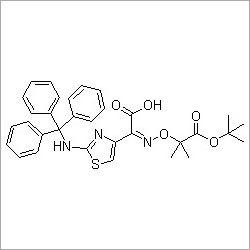 (Z)-2-(2-Tritylaminothiazol-4-yl)-2-(2-tert-butoxycarbonylprop-2-oxyimino)acetic acid