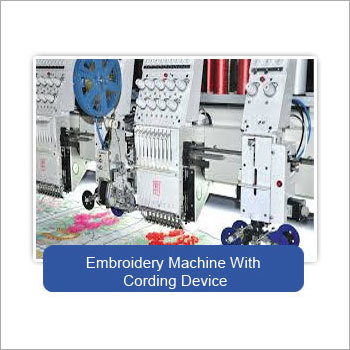 Embroidery Machine with Cording Device