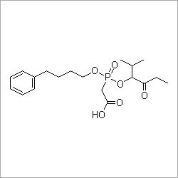 [(2-Methyl-1-propionylpropoxy)(4-phenylbutyl)phosphinoyl]acetic acid