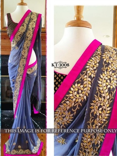 Fancy Designer Exclusive Stylish Heavy Work Saree