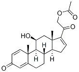 11beta,21-dihydroxypregna-1,4,16-triene-3,20-dione 21-acetate