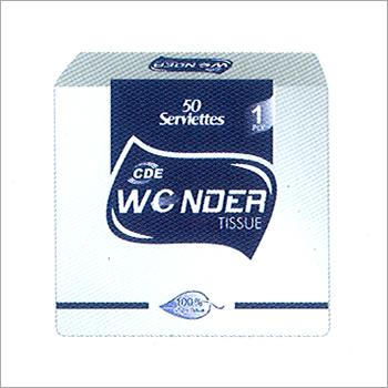 White Embossed Paper Tissues