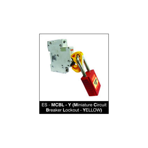 Miniature Circuit Breaker Lockout - YELLOW