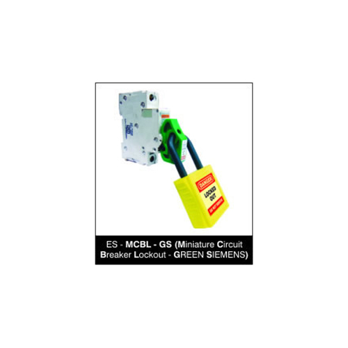 Miniature Circuit Breaker Lockout - GREEN SIEMENS