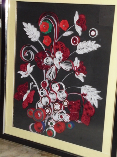 Handmade Quilling Wall Scenery