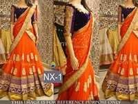 Fancy Designer Stylish Latest Orange Lehenga