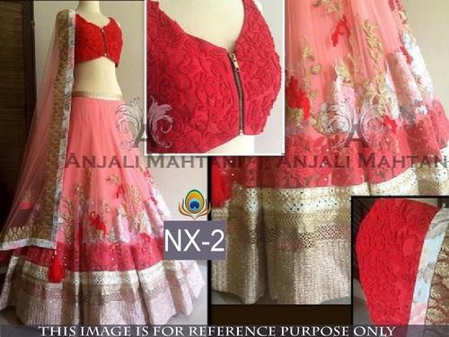 Fancy Designer Stylish Latest Pink Lehenga