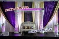Asian Wedding Crystal Pillar Stage Decors