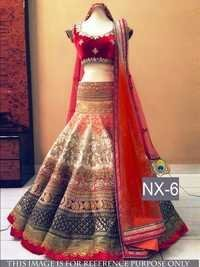 Fancy Designer Stylish Latest Red Lehenga