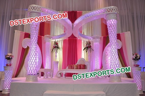 Wedding Fiber Crystal Mandap With Butterfly Style