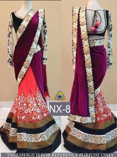Fancy Designer Stylish Latest Pink Saree